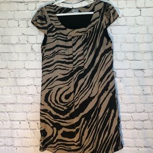 H&M brown/black dress size 10